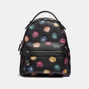 Coach 31630 Rainbow Rose Pebble Leather Backpack
